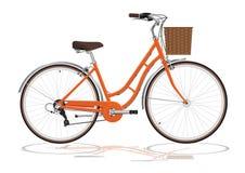 Bicicletta arancio Fotografia Stock