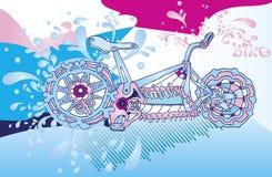 Bicicletta astratta Fotografia Stock Libera da Diritti