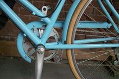 Bicicletta blu Fotografia Stock Libera da Diritti