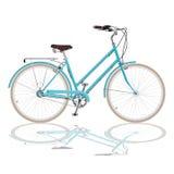 Bicicletta blu Fotografie Stock