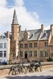 Bicicletta, Bruges, Belgio Fotografia Stock Libera da Diritti