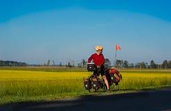 Bicicletta che visita avventuriere Fotografia Stock