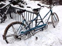 Bicicletta congelata Fotografia Stock Libera da Diritti