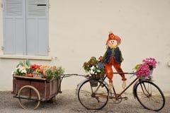 Bicicletta decorata Fotografie Stock Libere da Diritti