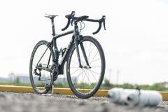 Bicicletta del carbonio Fotografia Stock