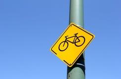 Bicicletta del segnale stradale Fotografie Stock Libere da Diritti
