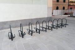 Bicicletta del sistema di parcheggio Immagine Stock