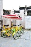 Bicicletta del villaggio di Pingshan Immagine Stock