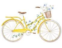 Bicicletta della bici dell'acquerello Fotografia Stock Libera da Diritti