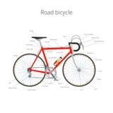 Bicicletta della strada con testo Fotografia Stock