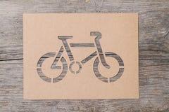 Bicicletta di carta Fotografia Stock Libera da Diritti