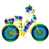 Bicicletta di fantasia Fotografie Stock