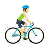 Bicicletta di guida dell'uomo Fotografia Stock Libera da Diritti