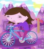 Bicicletta di guida della donna Immagine Stock
