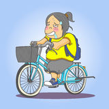 Bicicletta di guida della ragazza Fotografia Stock Libera da Diritti
