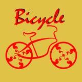 Bicicletta di vettore Immagini Stock