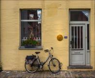 Bicicletta dimenticata belgium fotografie stock