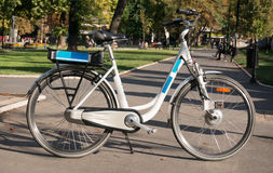 Bicicletta elettrica Fotografie Stock