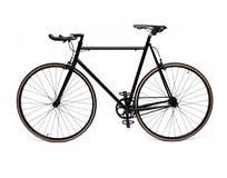 Bicicletta fissa nera dell'ingranaggio Fotografia Stock