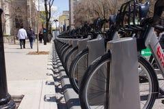 Bicicletta pubblica a Montreal. fotografia stock