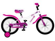 Bicicletta rosa dei bambini Girly Fotografia Stock Libera da Diritti