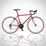 Bicicletta rossa Fotografia Stock Libera da Diritti