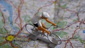 Bicicletta su una mappa Fotografia Stock Libera da Diritti