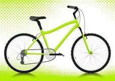 Bicicletta su una priorità bassa bianca. Vettore. Fotografie Stock