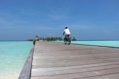 Bicicletta sulla spiaggia Fotografia Stock Libera da Diritti