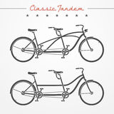 Bicicletta in tandem Fotografia Stock
