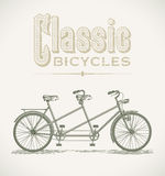 Bicicletta in tandem classica Immagine Stock Libera da Diritti