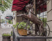 Bicicletta a tre ruote antica per i bambini Fotografie Stock Libere da Diritti