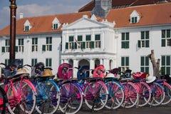 Bicicletta variopinta Immagine Stock Libera da Diritti