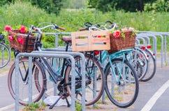Bicicletta variopinta Immagini Stock
