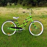 Bicicletta verde Fotografie Stock