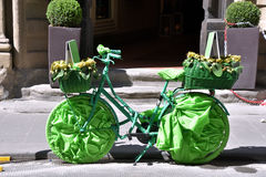 Bicicletta verde Στοκ Φωτογραφίες