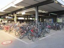 100 biciclette Fotografia Stock Libera da Diritti