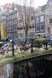 Biciclette a Amsterdam Fotografia Stock Libera da Diritti