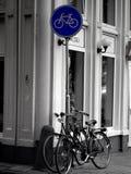 Biciclette a Amsterdam Immagine Stock