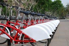 Biciclette a Barcellona, Spagna Fotografie Stock Libere da Diritti