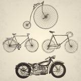 Biciclette d'annata messe Immagine Stock Libera da Diritti