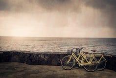 Biciclette dal mare Fotografie Stock Libere da Diritti