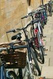 Biciclette degli studenti universitari Fotografie Stock