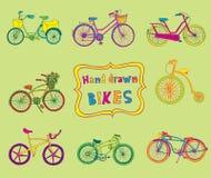 Biciclette di scarabocchio Fotografia Stock