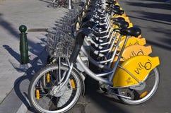 Biciclette locative a Bruxelles, Belgio fotografia stock