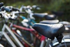 Biciclette nella pioggia Fotografia Stock Libera da Diritti