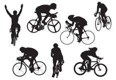 Biciclette nella prova, vettore, illu fotografia stock libera da diritti