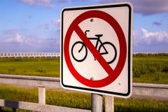 Biciclette non permesse Fotografia Stock Libera da Diritti