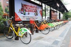 Biciclette pubbliche a Nanhai Immagini Stock