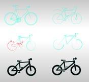 Biciclette stilizzate Fotografia Stock